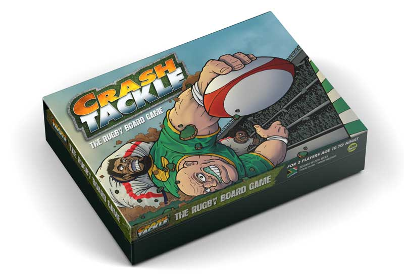 Crash Tackle the strategy Rugby Union Board Game Box