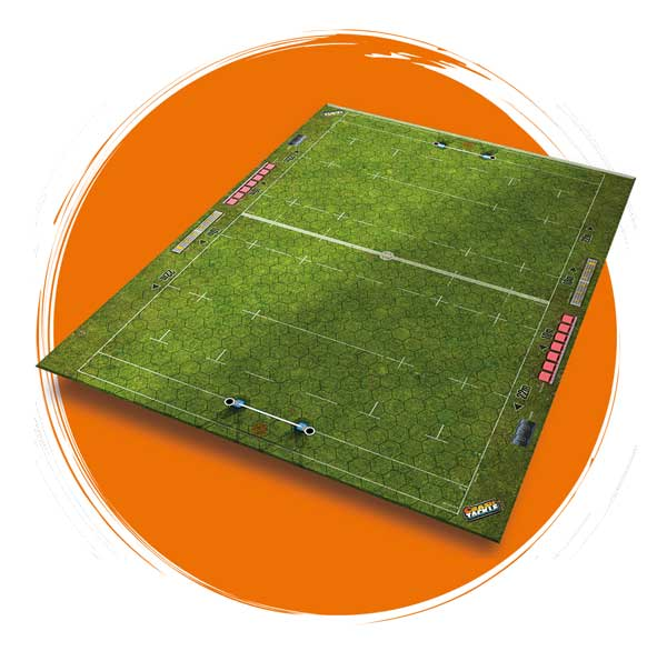 Crash Tackle Rugby Board Game Field